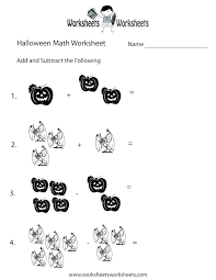 Counting Worksheets Linear Halloween Math 1st Grade