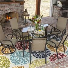 agio international panorama outdoor 9 piece high dining patio set. madison bay 7 piece aluminum sling dining set with 2 swivel rockers and glass table by lakeview outdoor designs agio international panorama 9 high patio c