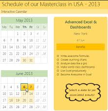 Calendar From Excel Data How To Create Interactive Calendar To Highlight Events
