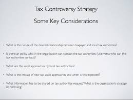 Tax Controversy Strategy: 'Proactively Managing The Changing ...