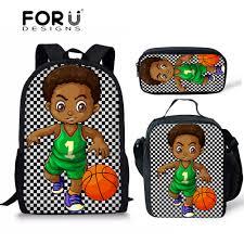 <b>FORUDESIGNS Black</b> African Boys School Bags for Kids 3pcs/set ...