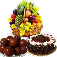 send gifts to hyderabad including 1 kg fresh fruits with 1 kg gulab jamun