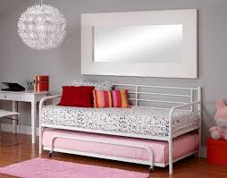 inspiring space saving bedroom decoration with various metal daybed frame fantastic small teen girl bedroom