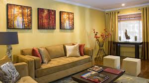 Living Room:Breathtaing Small Living Room Color With Artistic Wall Painting  And Wooden Flooring Ideas