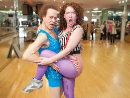 richard simmons woman. erica nix with richard simmons woman
