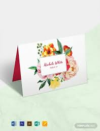 Place Card Design 10 Free Place Card Templates Word Psd Indesign