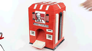 How To Make A Lego Vending Machine Gorgeous This LEGO KFC Chicken Vending Machine Should Be A Necessity For All