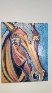 abstract horse painting large horse abstract abstract horse art colorful horse horse artwork equine art mixed a horse pebeo horse and animal