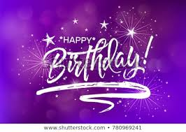Happy Birthday Beautiful Greeting Card Poster Stock Vector Royalty
