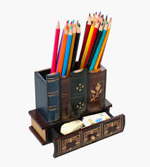 Pencil Holder And Drawer Book Lover Gifts