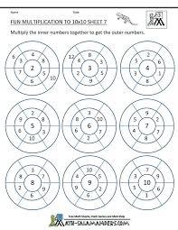 Best Fun Math Worksheets Multiplication Ideas - Worksheet ...