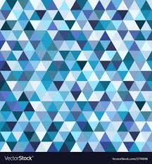 Mosaic Pattern Magnificent Geometric mosaic pattern from blue triangle Vector Image