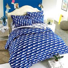 esydream home bedding ocean shark design kids duvet cover sets queen twin size shark children