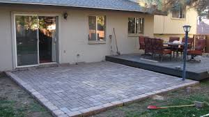laying patio pavers over concrete furniture and unique