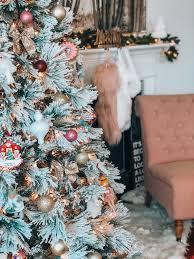 white christmas tree decoration ideas Christmas | flocked under