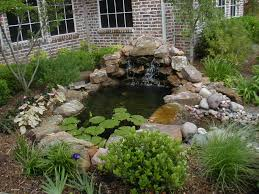 Lawn & Garden:Alluring Small Backyard Garden Ponds With Stone Waterfall  Ideas Small And Simple