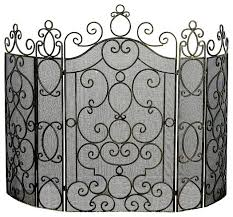 5 panel fire screen traditional fireplace screens