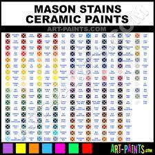 Mason Stains Ceramic Porcelain Paint Colors Mason Stains