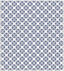 Myspotti Fensterfolie Myspotti Look Grafik Blumenmuster Blau 90 X