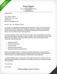 writing sample for internship how make cover letter cover letter example internship classic