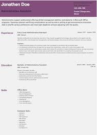 Entry Level Office Assistant Resumes Resume Examples Entry Level Administrative Assistant Resume Pdf With