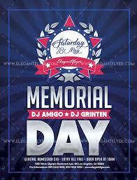 Memorial Day 2019 Free Flyer Psd Template Psdflyer Co