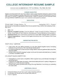 College Student Resume Template Awesome Resume Template Internship With Resume Template For A College