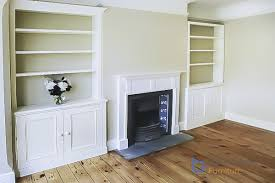 we created a run of traditional alcove cupboards in all the alcoves in the room we created