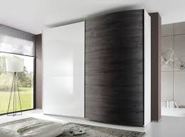 tambura curved sliding doors wardrobe white wenge