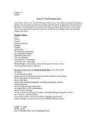 thematic novel essay oscar wao