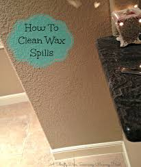 remove wax from walls in minutes