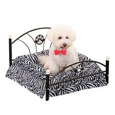 luxury dog bed furniture. Luxury Pet Bed Dog House Zebra Leopard Sofa For Cat Puppy Cushion Mats Furniture High Quality - Dogs Supplies Store