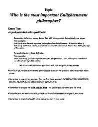 enlightenment philosophers teaching resources teachers pay teachers enlightenment philosopher essay enlightenment philosopher essay