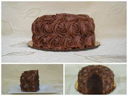 Homemade Chocolate Cake Decorated With Rosettes Cakecentralcom