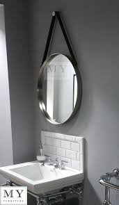 round mirror with leather strap large bathroom round wall mirror with leather strap round mirror leather strap nz