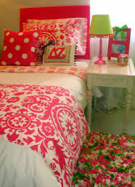 Kate Spade Bedding Charming Bedroom With Pink Leather Headboard And White Fitted