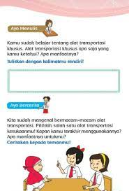 Soal tematik kelas 3 tema 7 subtema 2 halaman 64, 76, 87, 93, 100, 107. Kunci Jawaban Tema 7 Kelas 3 Halaman 204 205 206 207 208 209 210 211 212 213 Buat Kalimat Manfaat Transportasi Metro Lampung News