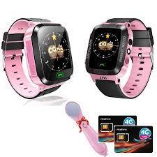 Combo 2 Đồng Hồ Thông Minh Trẻ Em KidWatch + Cặp Sim 3G/4G Tốc Độ Cao Và  Máy Massage Mặt Ion Hàn Quốc - Đồng hồ thông minh Thương hiệu OEM