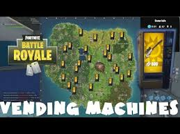 Vending Machine Finder Delectable All Vending Machine Locations Fortnite