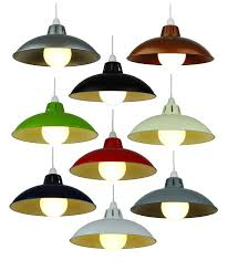 12 16 retro metal shade coolie glossy lampshade modern ceiling light fitting