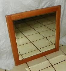 solid oak beveled wall mirror mr13