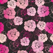 Seamless vector dark floral pattern or ...