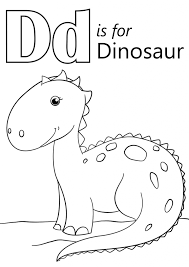 Small Picture Letter D Is For Dinosaur Coloring Page Download Education