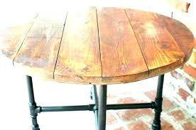 rustic wood round dining table solid kitchen tables wonderful wooden reclaimed uk