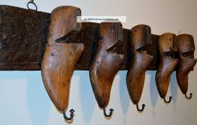 Shoe Coat And Hat Racks Wood Shoe Mold Coat Hat Rack Wall Mount Art Industrial Molds 89
