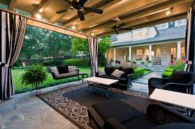 outdoor room french inspired home in dallas texas