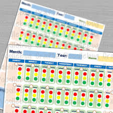 Red Yellow Green Behavior Chart Kids Monthly Behavior Chart Home School Red Yellow Green Light System Tracker Log Instant Download The Easy Life Children