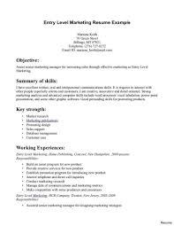 Basic Entry Level Resumes Resume Sample Entry Level Resume Template Example Document