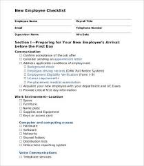 Employee New Hire Forms Free New Employee Checklist Template 10 Free Pdf Documents Download