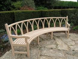 Outdoor Curved Bench Seating Garden Image With Cool Curved Garden regarding  Fabulous Curved Garden Bench HD